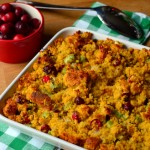 Pumpkin Cornbread Stuffing with Cranberries