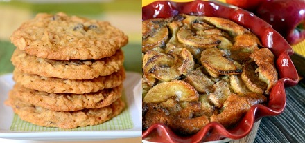 Oatmeal Cookies and Crazy Crust Apple Pie