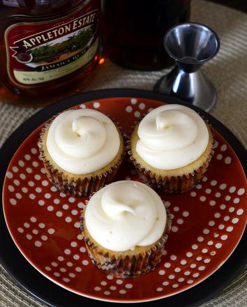Rum & Vanilla Cupcakes