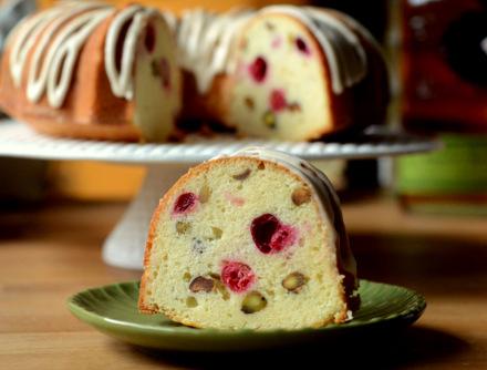 Cranberry Pistachio Pound Cake | Baking Bites