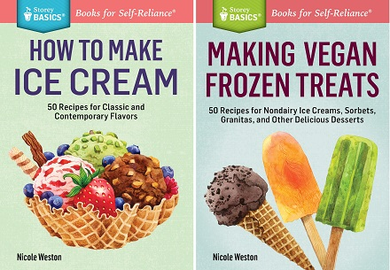 New Cookbooks from Nicole: How to Make Ice Cream and Making Vegan Frozen Treats