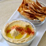 Homemade Hummus and Pita Chips