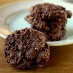 Low Fat Double Chocolate Oatmeal Cookies