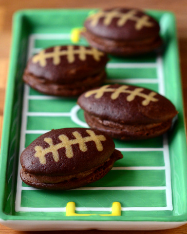 Chocolate Football Whoopie Pies: A Great Super Bowl Dessert