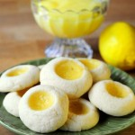 Meyer Lemon Curd Thumbprint Cookies
