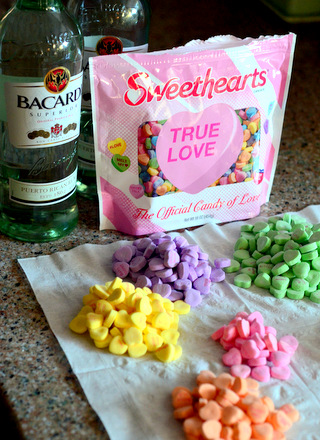 Conversation Heart Rum for Valentine's Day
