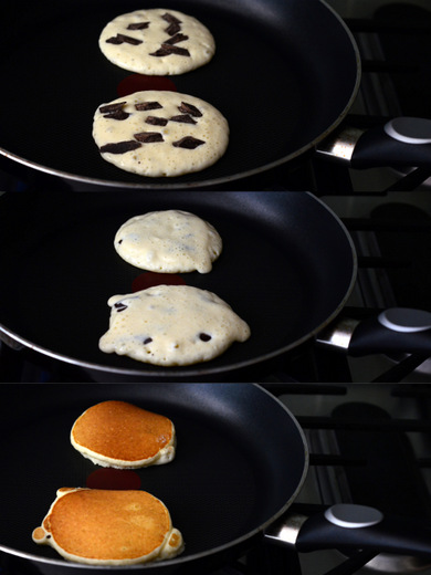 How to make Easy Buttermilk Chocolate Chunk Pancakes