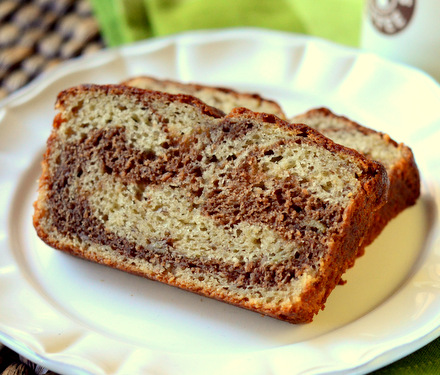 Milk Chocolate Swirl Banana Bread