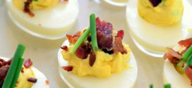 Bacon and Chive Deviled Eggs