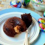 Cadbury Egg Chocolate Lava Cakes
