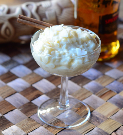 Spiced Rum Rice Pudding