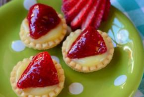 Strawberry & Lemon Curd Tartlets