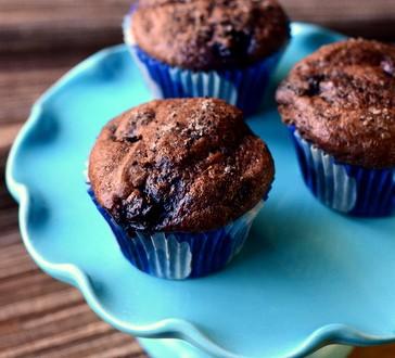 Chocolate Blueberry Muffins | Baking Bites