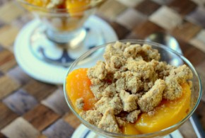 Skillet Peach and Mango Crisp