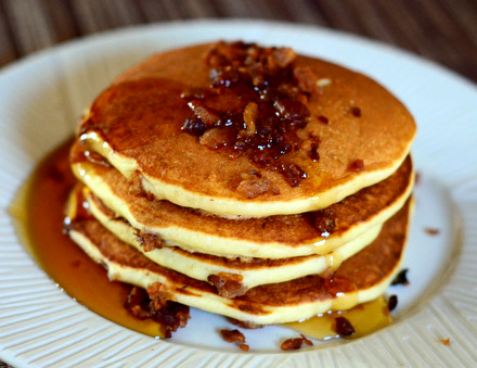 Buttermilk Bacon Pancakes