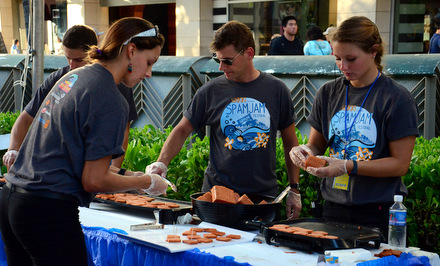 Volunteers serving up Spam samples