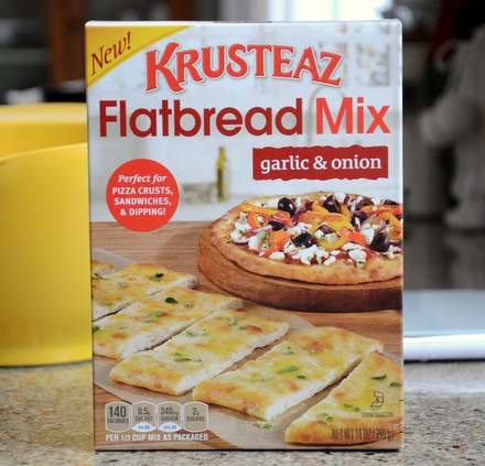 Krusteaz Garlic and Onion Flatbread Mix