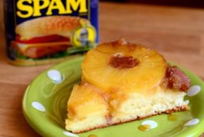 Hawaiian SPAM and Pineapple Upside Down Cake