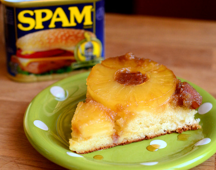 Hawaiian Spam and Pineapple Upside Down Cake