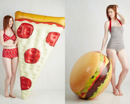 Pizza and Burger Pool Floats