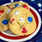 Fourth of July Peanut M&M Cookies