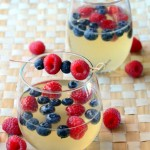 Red, White and Blue Sangria from Baking Bites!