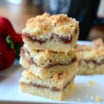 Strawberry Macadamia Shortbread Bars