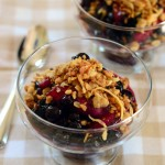 Blueberry & Nectarine Skillet Cobbler with Coconut Streusel