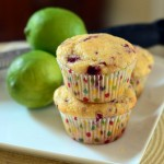 Raspberry Lime Cornmeal Muffins