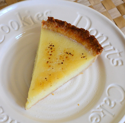 Bourbon Vanilla Bean Custard Pie