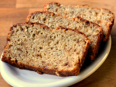 Butter Brickle Banana Bread