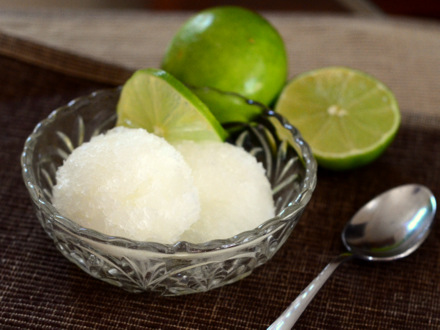 Homemade Lime Sorbet