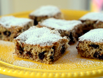 Chocolate Chip Banana Cake Bars