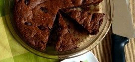 Reduced Guilt Mexican Chocolate Brownie Pie