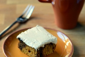 Pumpkin Spice Latte Cake with Cinnamon Frosting
