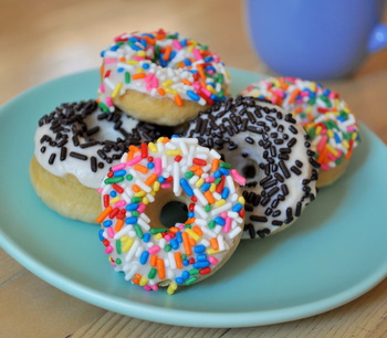 Baked Mini Donuts with Sprinkles