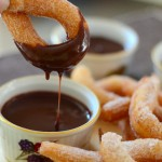 Homemade Cinnamon Churros with a Trio of Chocolate Dipping Sauces