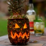 Carving a Pineapple For Halloween