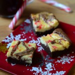 Peppermint Mocha Cream Cheese Brownies