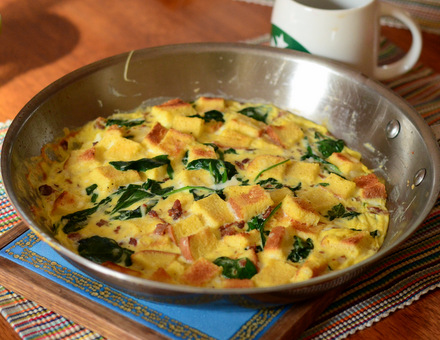 Bacon & Spinach Stovetop Breakfast Casserole