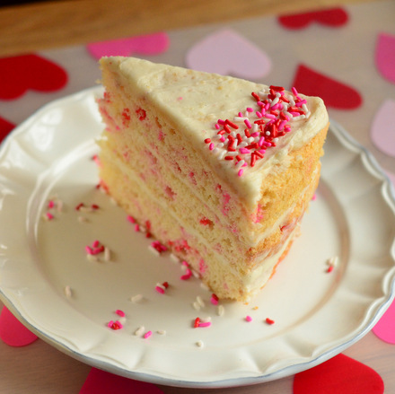 Valentine's Day Funfetti Cake
