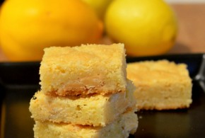 Meyer Lemon & White Chocolate Blondies
