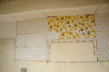 Baking Bites' Kitchen Reno - Strange contact paper patchwork