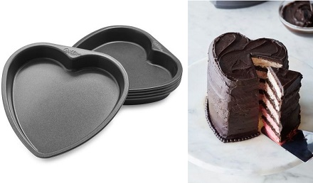 Wilton 5 Layer Heart Cake Pan Set