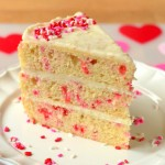 Valentine's Day Funfetti Layer Cake