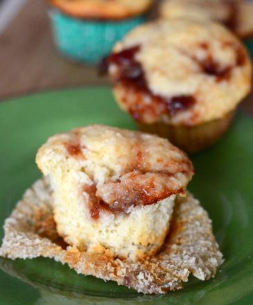 Strawberry Swirled Lime Muffins