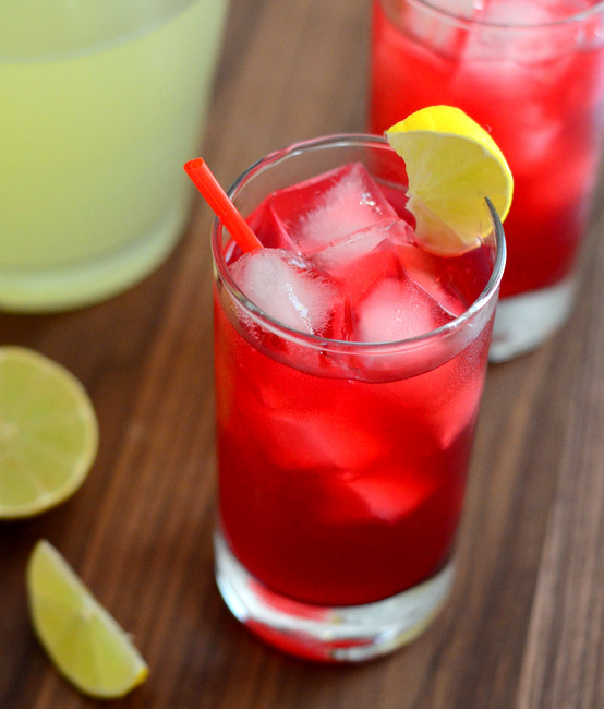 The Best Homemade Cherry Limeade