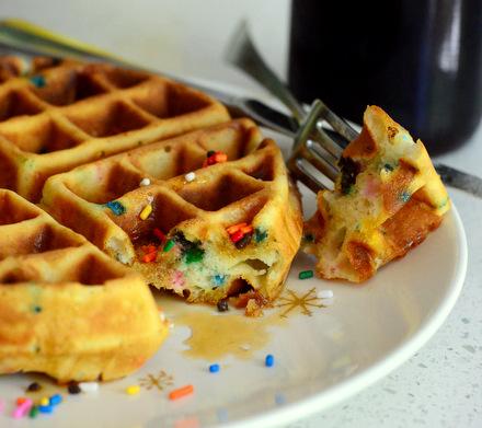 Funfetti Belgian Waffles