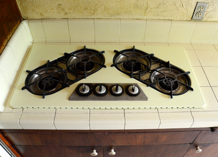 Un-Restored 1964 O'Keefe & Merrit Cooktop