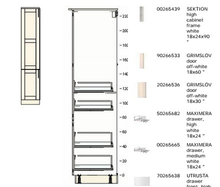 IKEA Pantry Interior and Parts List
